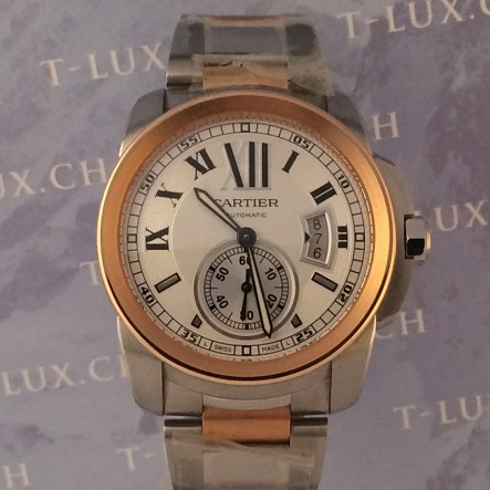 Cartier Calibre Rose Gold Steel