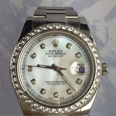 Rolex Date-Just 2 Diamond Bezel 116334